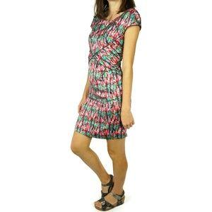Zac Posen Sheath Dress Pink Abstract Size 2